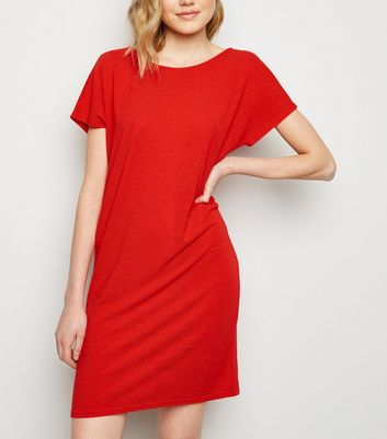 JDY Red T-Shirt Dress