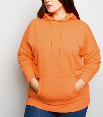 Curves - Sweat à capuche orange oversize