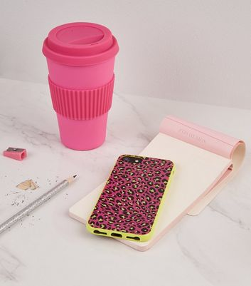 Pink Neon Leopard Print iPhone 6/6s/7/8 Case