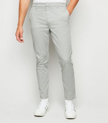 Pale Grey Skinny Stretch Trousers