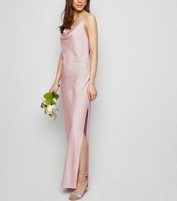 Lilac Cowl Neck Maxi Dress
