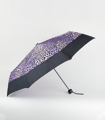 Light Purple Leopard Print Umbrella