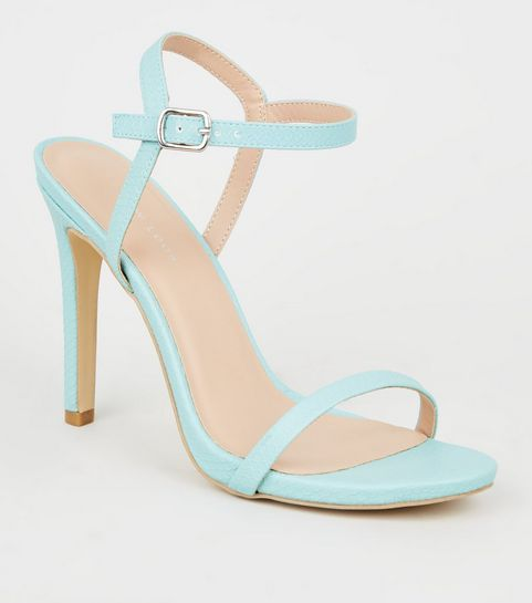52109445093b ... Mint Green Faux Snake Stiletto Heel Sandals ...