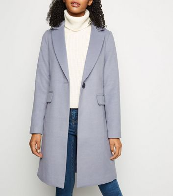 Blue Single Breasted Formal Coat