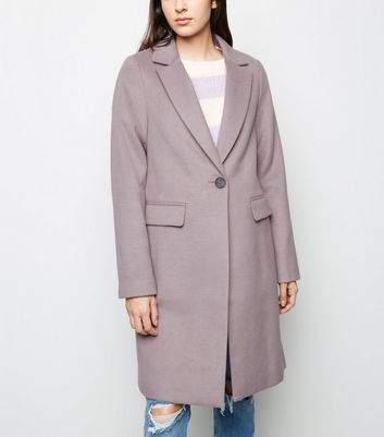 Lilac Single Breasted Formal Coat