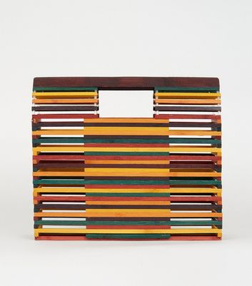 Rainbow Slatted Bamboo Bag