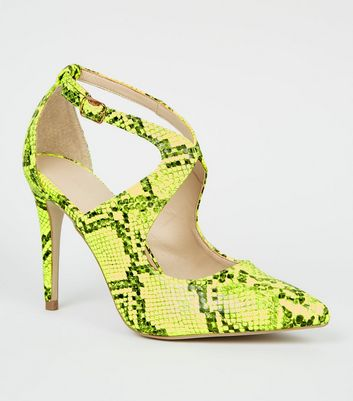 Yellow Neon Faux Snake Courts