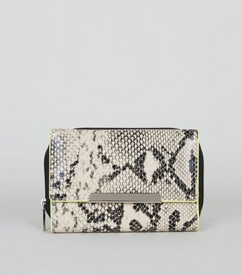 Mink Faux Snake Neon Edge Small Purse