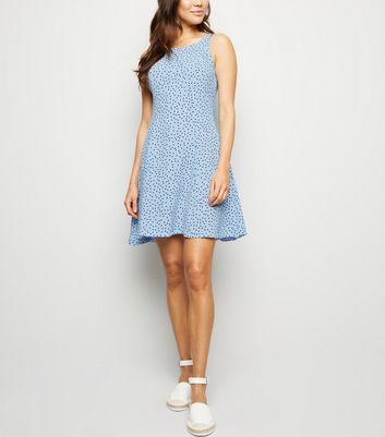 Blue Vanilla Pale Blue Polka Dot Dress New Look