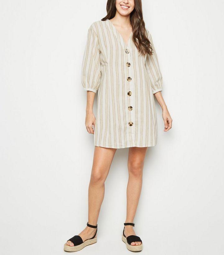 ecc8699582a ... Blue Vanilla Cream Stripe Button Up Shirt Dress. ×. ×. ×. Shop the look