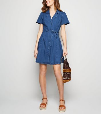Mid Blue Denim Tea Dress