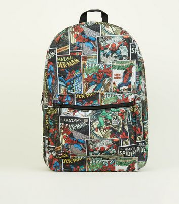 Multicoloured Marvel Comic Printed Backpack