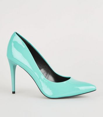 Turquoise Pointed Court Shoes