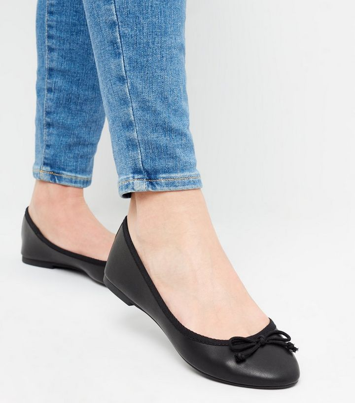 b62b5cd77013d ... Black Leather-Look Check Lined Ballet Pumps. ×. ×. ×. Shop the look