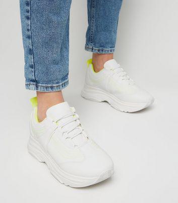Gespeicherten In Mit Sohle Und Später Weiße Von Optik Entfernen Dicker Neon Artikeln Leder Speichern Sneaker Für Akzenten EHYIWD92