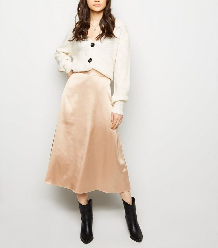 066ddc8817 Stone Satin Midi Skirt Add to Saved Items Remove from Saved Items