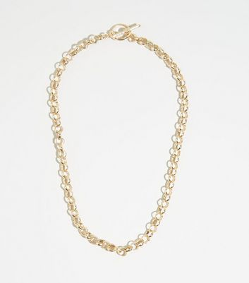 Gold Chain Thread Through Necklace