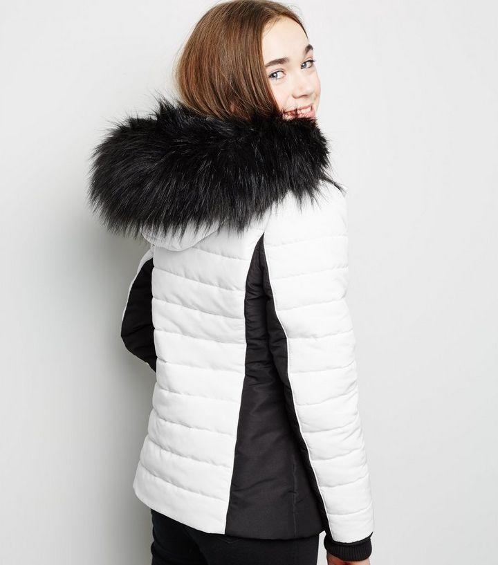 f3bfe048f ... Girls White Ski-Style Puffer Jacket. ×. ×. ×. Shop the look