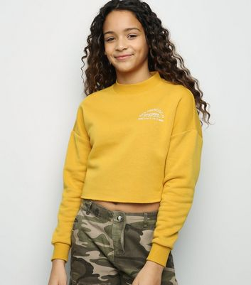 Girls Mustard San Francisco Slogan Sweatshirt