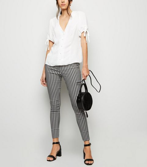 1378781ed7019 ... Black Gingham Check Slim Fit Trousers ...