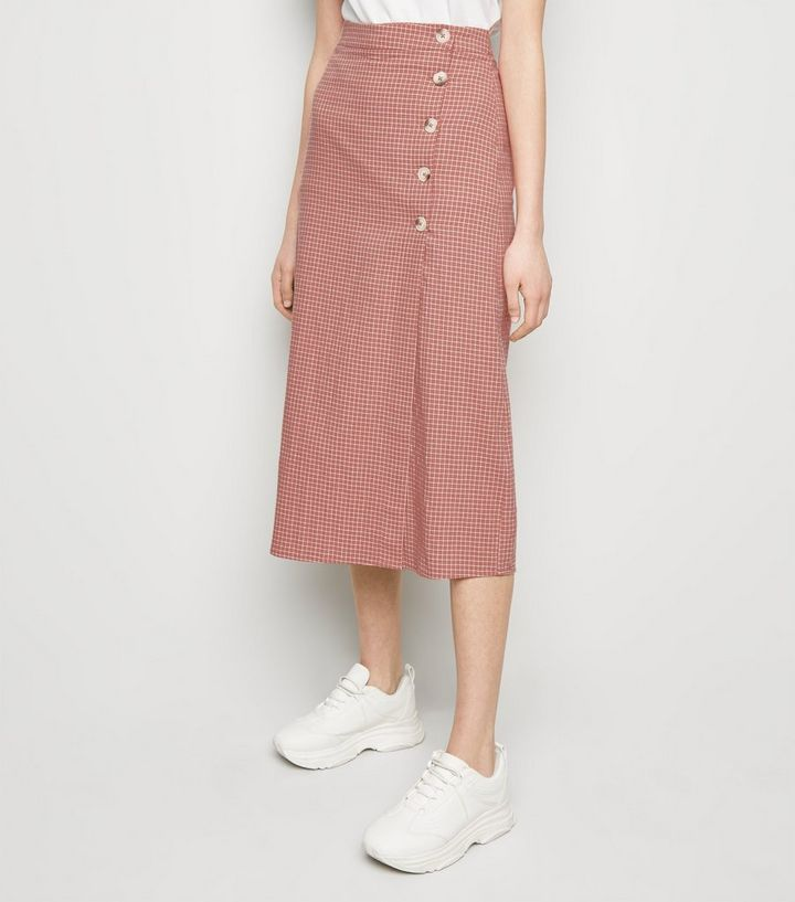 109a2176f4 ... Pink Grid Check Midi Skirt. ×. ×. ×. Shop the look