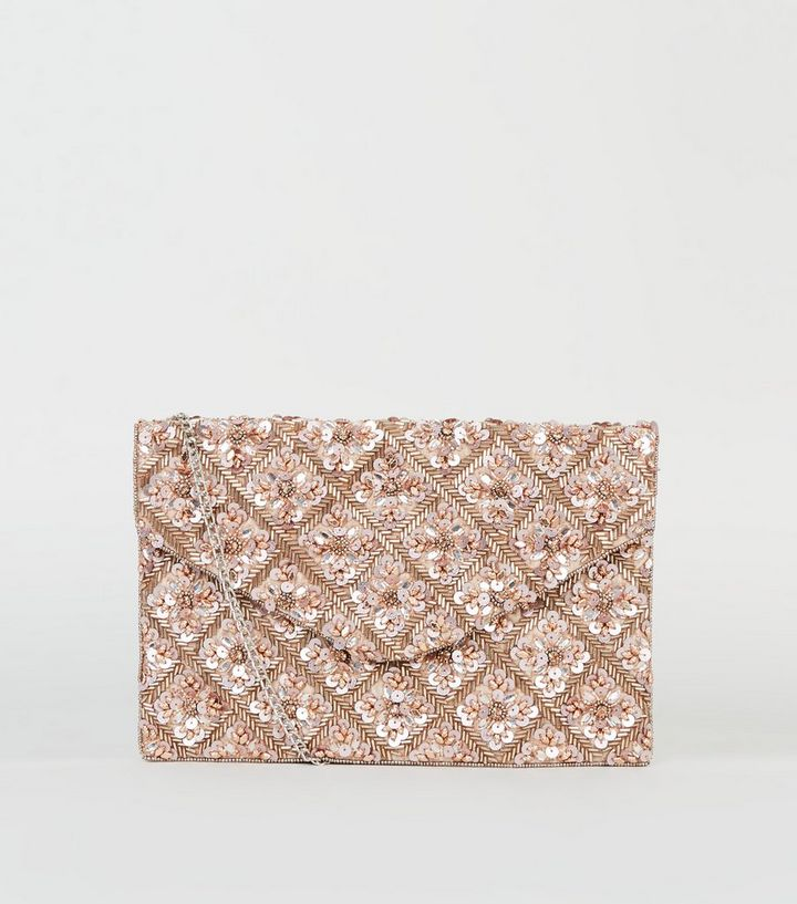 2019 discount sale retail prices san francisco Rose Gold Sequin Bead Clutch Bag Add to Saved Items Remove from Saved Items