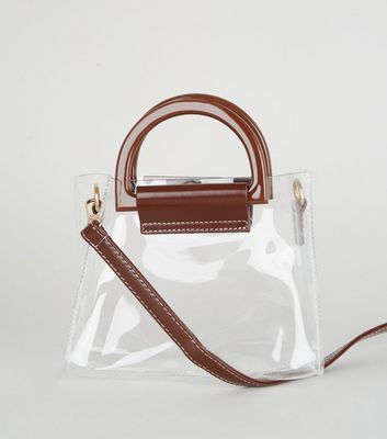 Clear Plastic Mini Grab Tote Bag