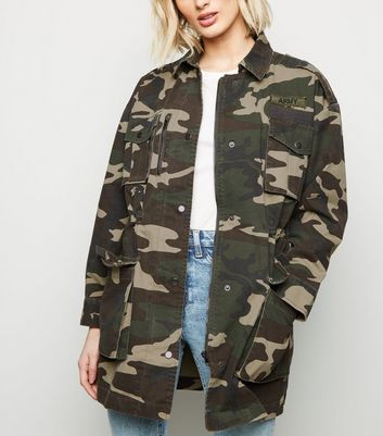 Green Camo Lightweight Parka Jacket