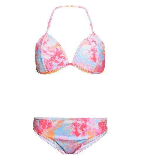 c8894e3611 ... Girls Pink Tie Dye Bikini Set ...