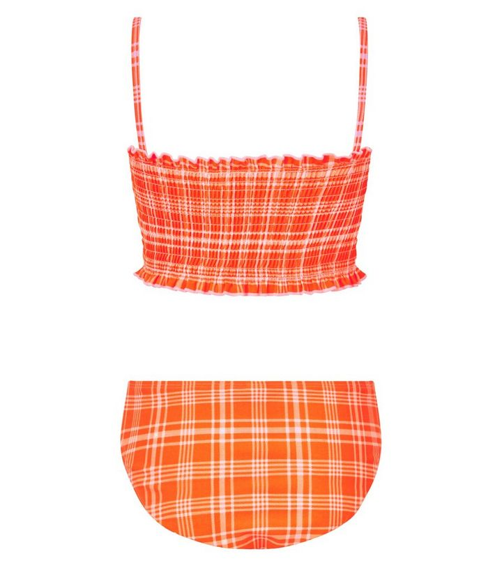 0cd0bd220055e ... Girls Orange Check Shirred Bikini Set. ×. ×. ×. Shop the look