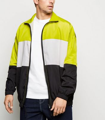 Multicoloured Neon Colour Block Wind Breaker