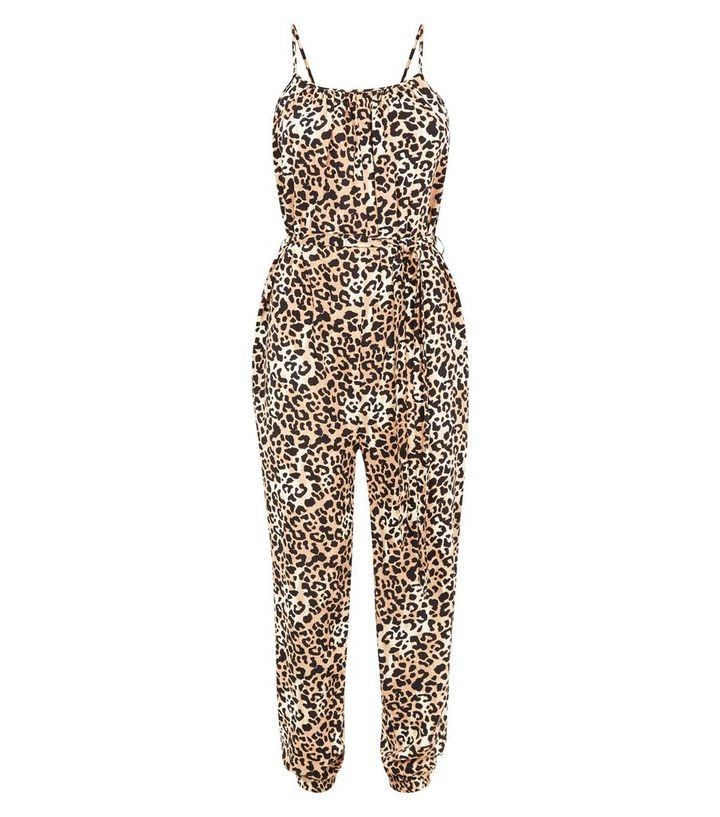 0fb99a1b55339 ... Brown Leopard Print Square Neck Jumpsuit. ×. ×. ×. Shop the look
