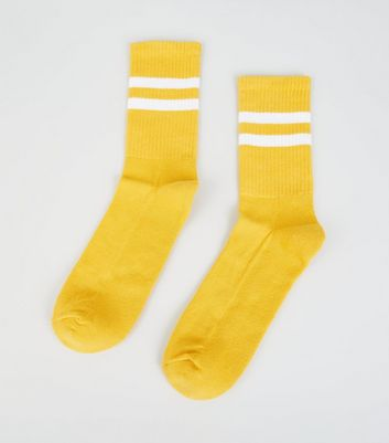 Mustard Stripe Socks