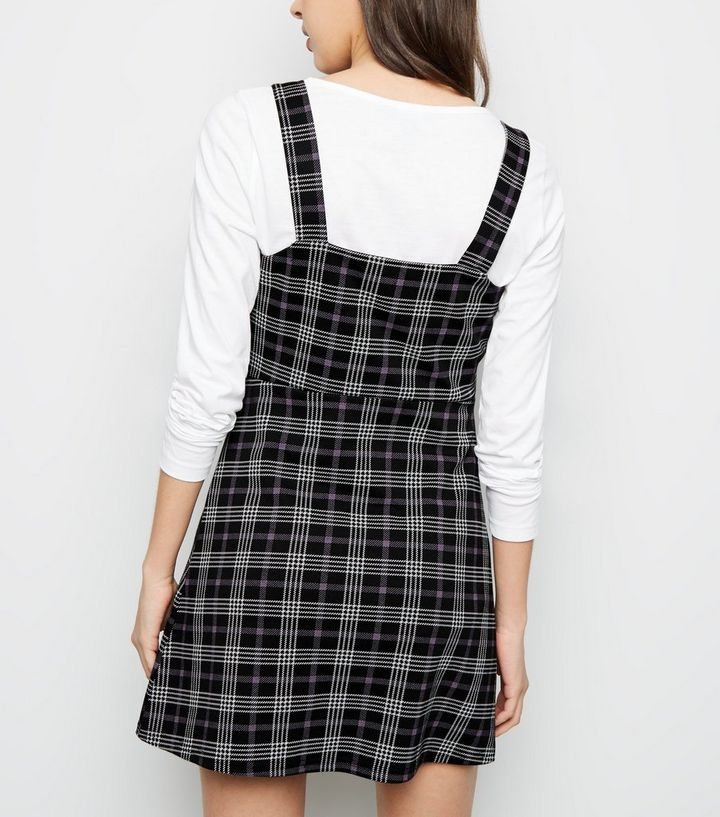 2ebdceb3700 ... Petite Black Check Button Side Pinafore Dress. ×. ×. ×. Shop the look