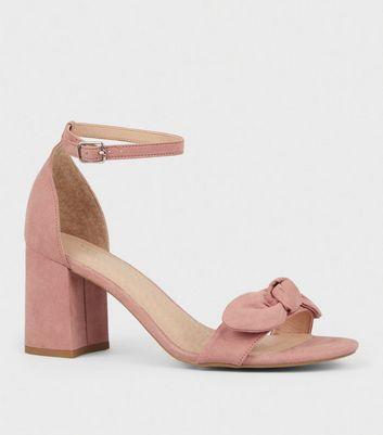 bfb4489a181 Pink Comfort Flex Bow Strap Block heels