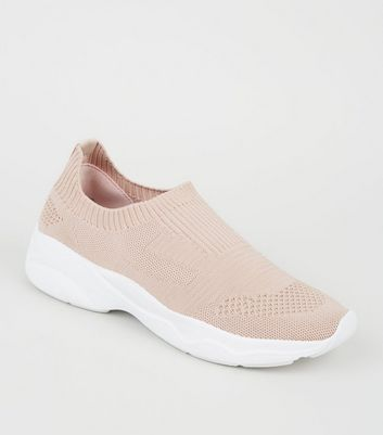 Pink Knit Sock Trainers