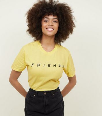 Yellow Friends Logo T Shirt by New Look