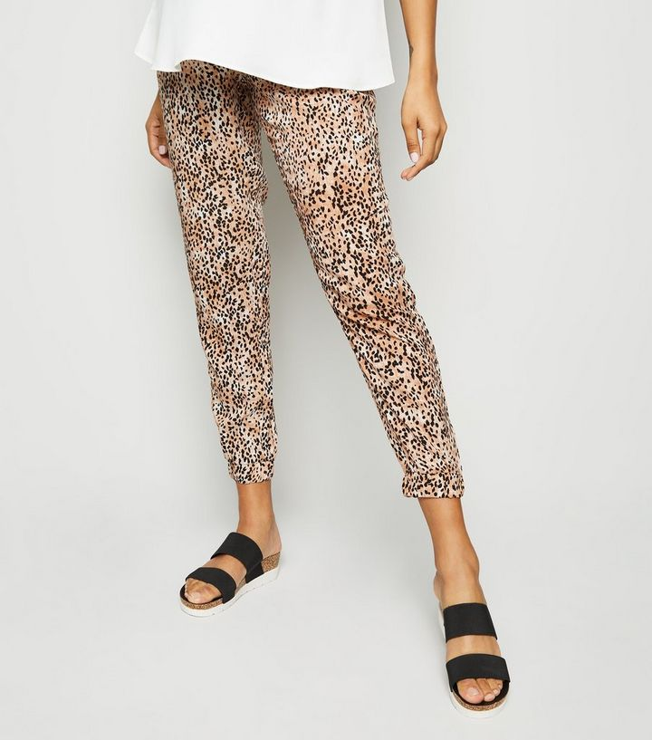 699b33e1c9e1d ... Maternity Brown Animal Print Joggers. ×. ×. ×. Shop the look