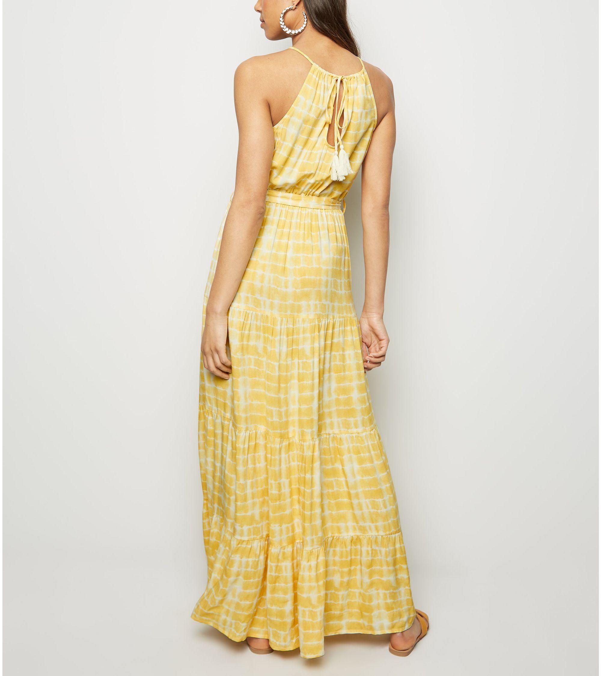 948c7cee324d New Look tie dye halterneck maxi dress at £24.99