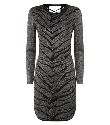 shop for Blue Vanilla Black Lattice Back Jumper Dress New Look at Shopo