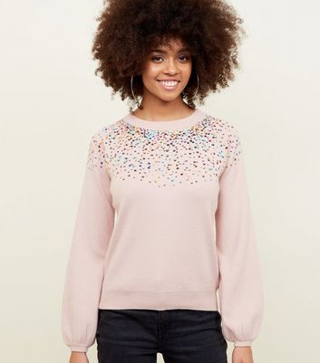 Blue Vanilla Pink Rainbow Sequin Jumper
