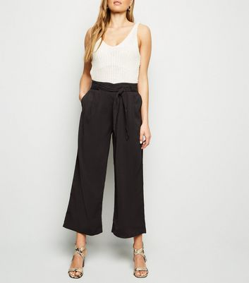 Tall Black Tie Waist Trousers