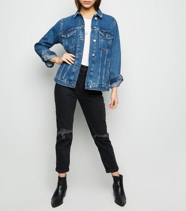 b771484851 Petite Blue Oversized Denim Jacket