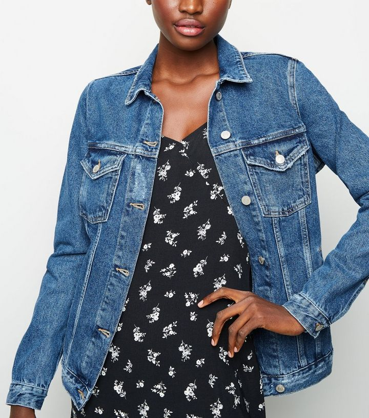 c87d682d7 Tall Blue Oversized Denim Jacket Add to Saved Items Remove from Saved Items