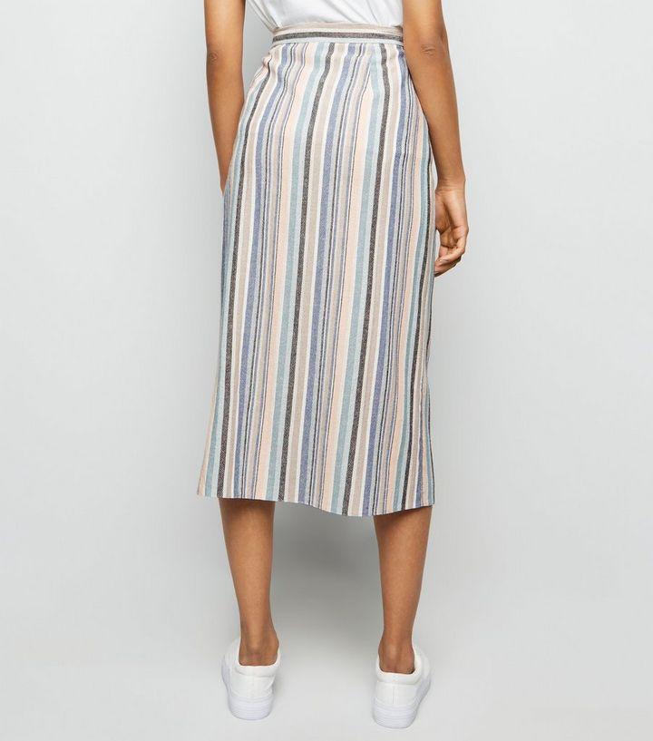 96ac75ed7717 ... Stripe Linen Look Button Side Midi Skirt. ×. ×. ×. Shop the look