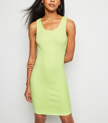 Mint Green Ribbed Bodycon Dress
