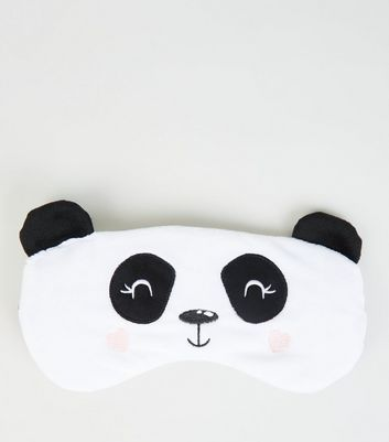 White Panda Fluffy Eye Mask