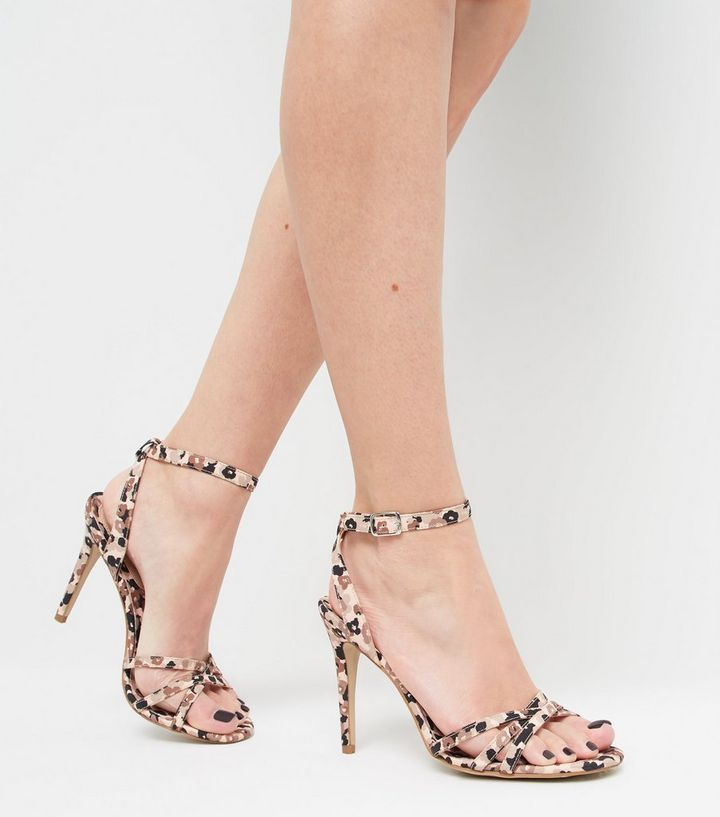 69cd32f1eeb15 ... Brown Satin Floral Strappy Stiletto Heels. ×. ×. ×. Shop the look