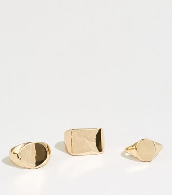 Gold Plain Sovereign Stacking Rings