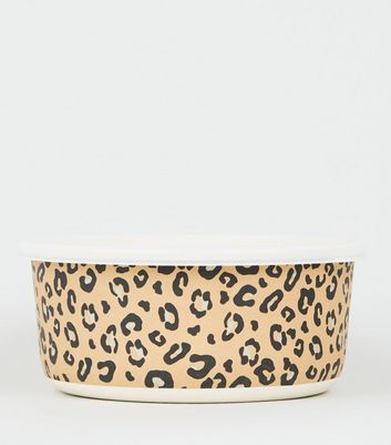 Brown Leopard Print Lunch Box Container